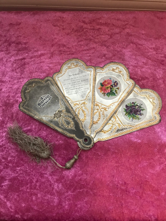 Victorian Birthday Offering Fan