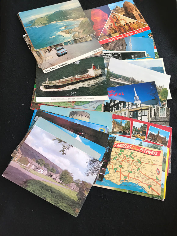 Vintage Used Postcards