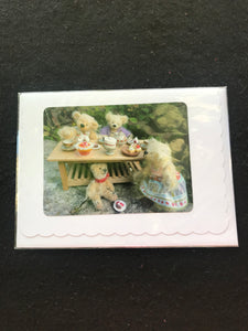 No. 14. Teddy Bear greeting cards, blank for your own message.  Cards by Hardy Bears designer June Kendall