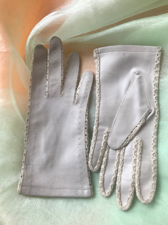 Gloves - Leatherette & Lace - 7110