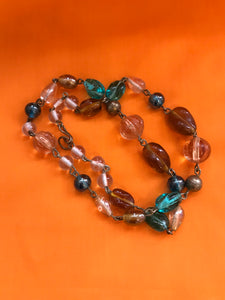 Necklace - Victorian Glass Beads - 7143