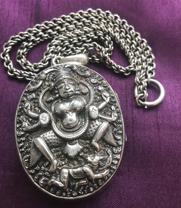 Necklace - Silver Locket & Chain (Tested) - 5330