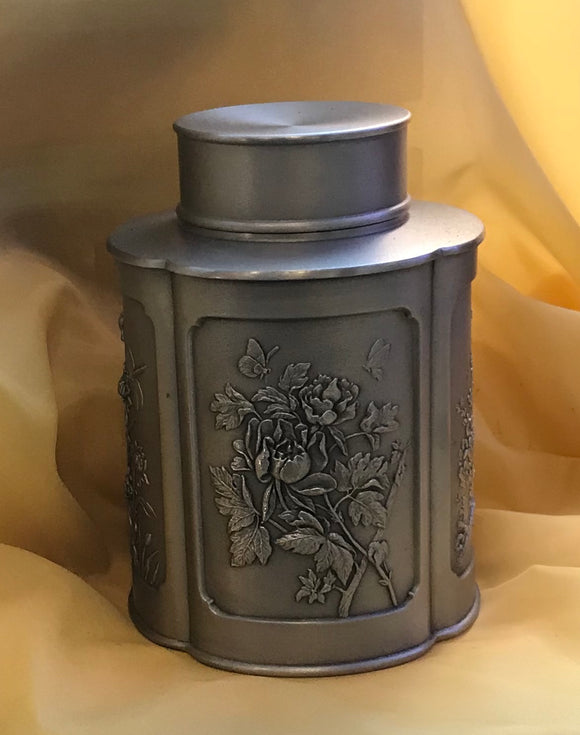 Tea Caddy Pewter -6087