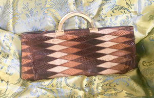 Clutch Handbag. Snakeskin Leather. - 7134