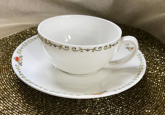 Vintage Style Cup and Saucer Set - 5205
