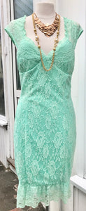 Dress - Green Lace - 7166