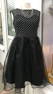 Dress - Black & White Polka Dot - 7149