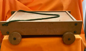Vintage Wooden Brick Trolly (Bricks Not Included) - 490