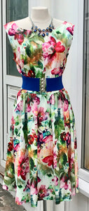 Dress - Summery Floral Multi-Coloured - 7180