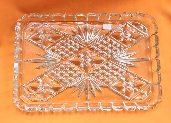 Vanity Tray - Pressed Glass - 7145