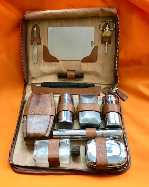Gentlemen's Vintage Travel Set In Vinyl Case - 7142