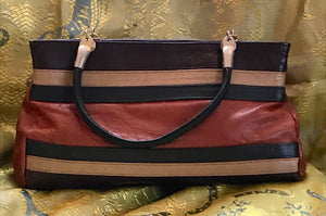 Handbag - Leather Multi Coloured - 7211