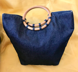 Handbag - Denim Jean Bag - 7201