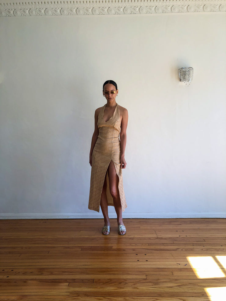Rosa Dress in Beige