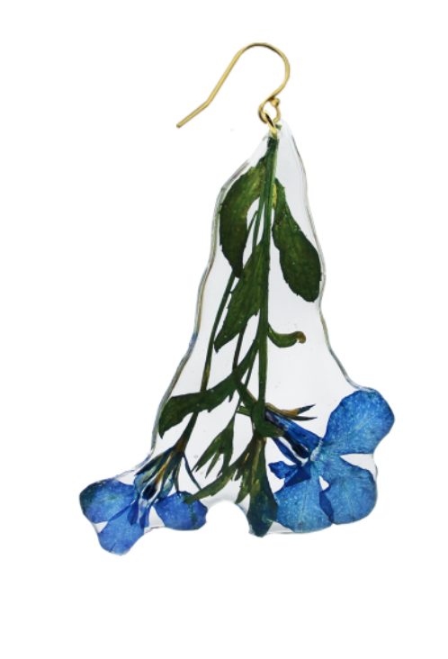 Blue Lobelia Earrings