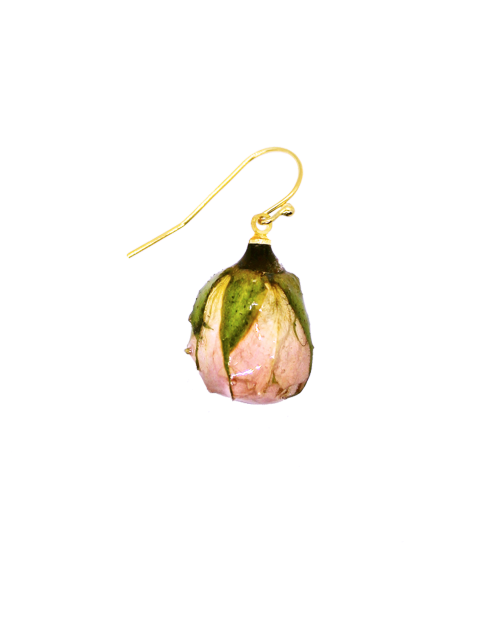 Soft Pink Rosebud Earrings