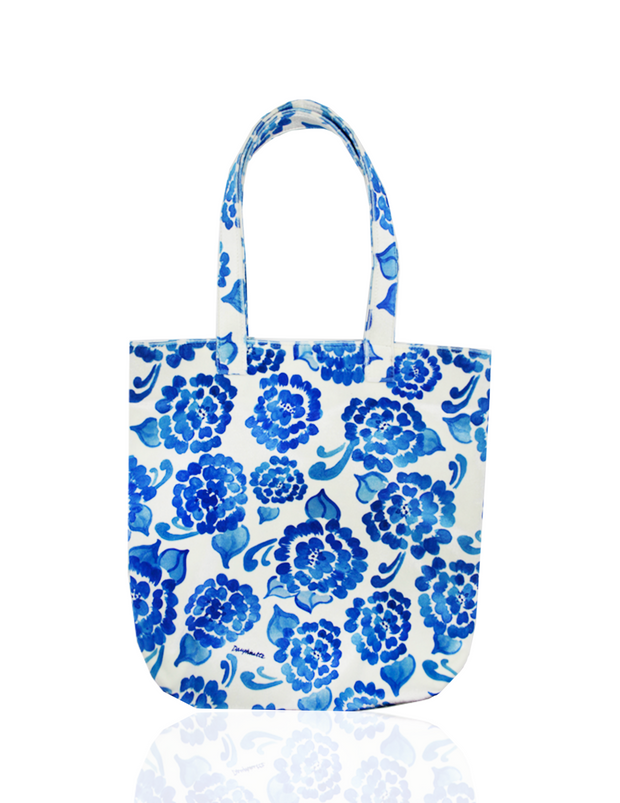 Painters Tote in Chinoiserie