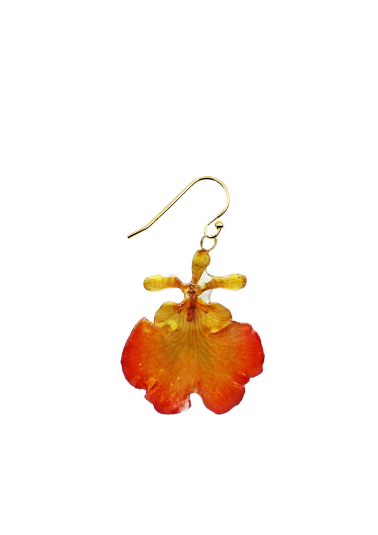 Fire Mini Orchid Earrings