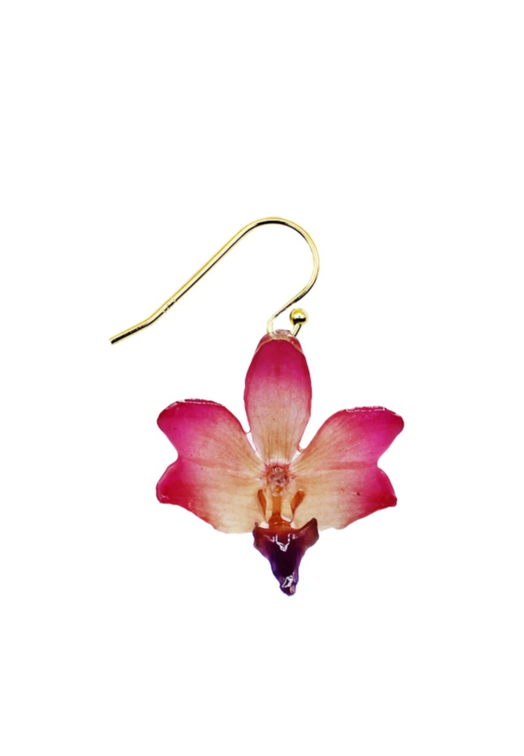 Sugar Pink Mini Orchid Earrings