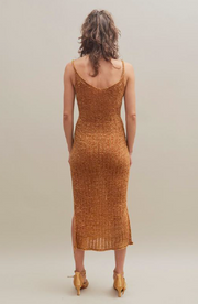 Ribbon Dress in Ochre