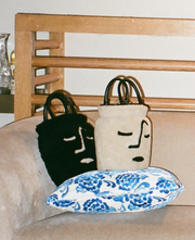Face Vase Bag in Midnight