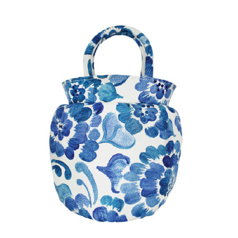 Vase Tote in Chinoiserie