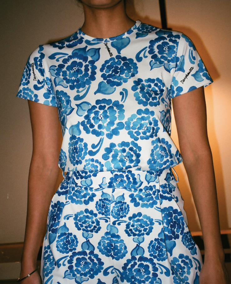 Jane Short Sleeve in Chinoiserie
