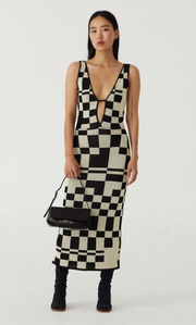 Westlake Dress in Black Check