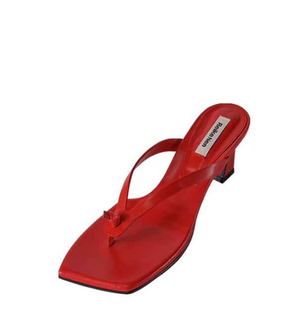 Flip Flop Heel in Red