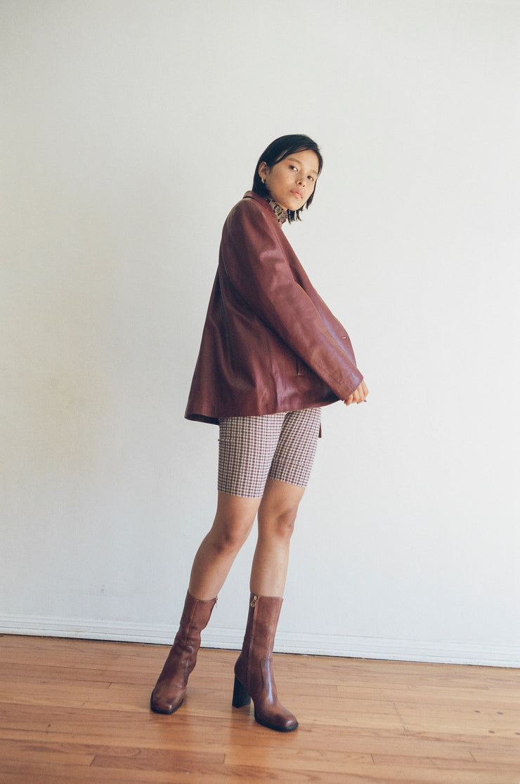 Index Shorts in Burgundy