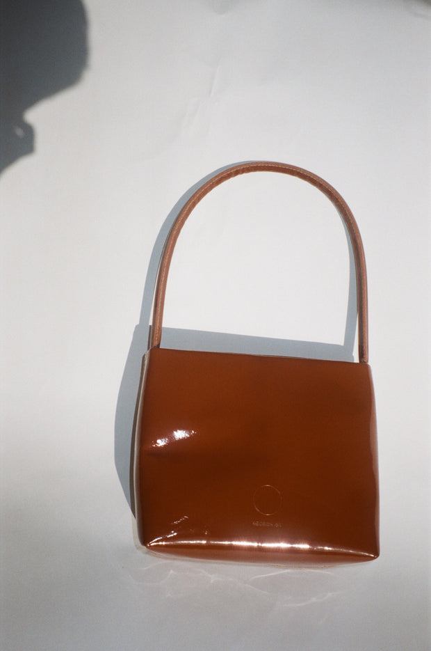 Little Ombra in Patent Toffee