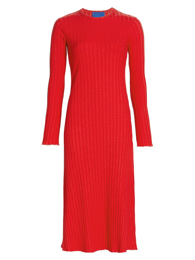 Wells Long Sleeve Dress in Red