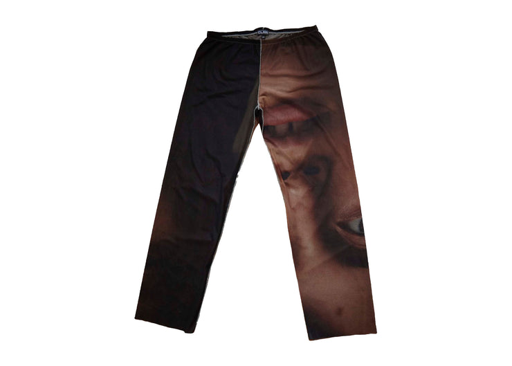 Mid Rise Pants in Photo Print