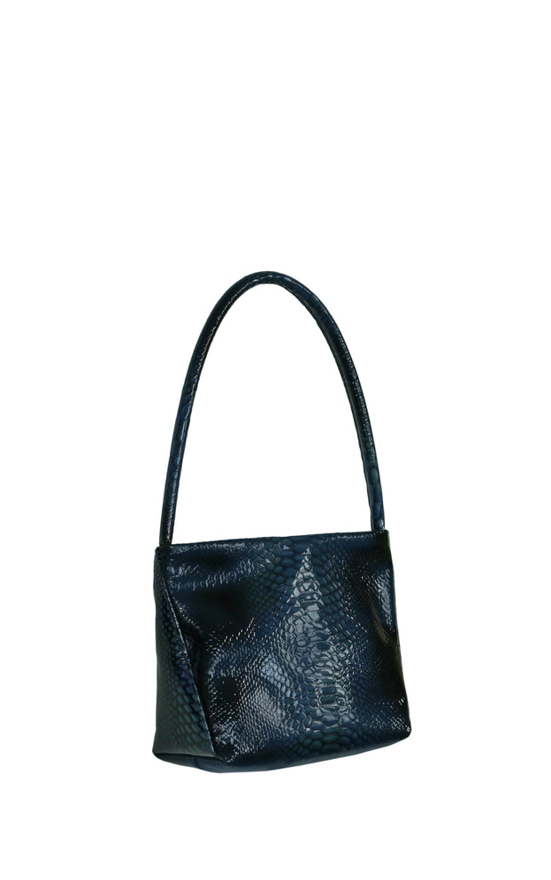 Little Ombra in Patent Cobalt Snake