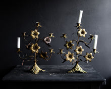 Load image into Gallery viewer, Pair of antique French candelabra
