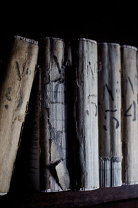Large worn books