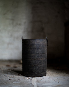 Wooden Tibetan pot with chain