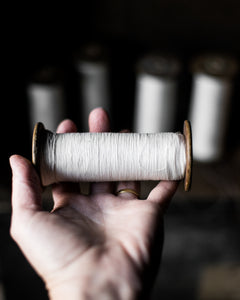 Old French silk thread bobbins