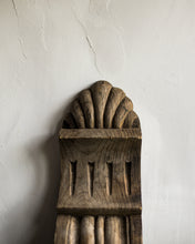 Load image into Gallery viewer, Large pair of old wooden corbels