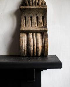 Large pair of old wooden corbels