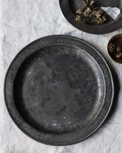 Load image into Gallery viewer, Large antique pewter plate