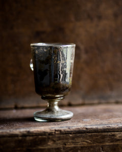 Antique mercury glass cup