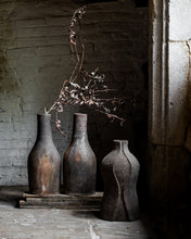 Load image into Gallery viewer, Curved rustic old vase