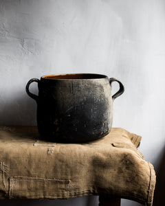 Rustic French confit pot