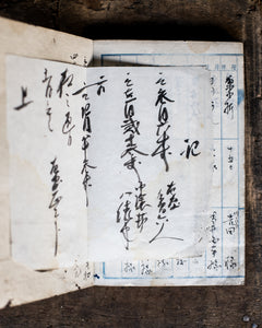 Antique Japanese shopkeeper's book 1