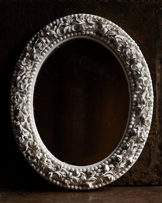 Antique porcelain mirror