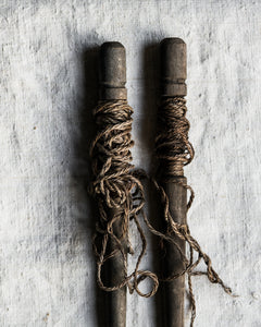 Pair of vintage garden pegs