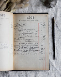 Old French chateau ledger 1923