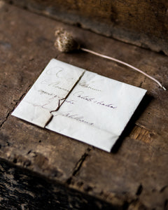 Small French handwritten folded letter # 2
