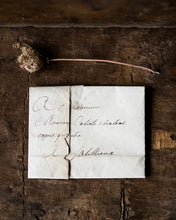 Load image into Gallery viewer, Small French handwritten folded letter # 2